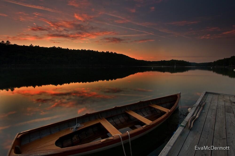 Sunset on my River by EvaMcDermott