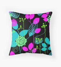 Foliage Fuchsia & Teal [iPhone / iPod Case and Print] Throw Pillow
