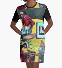 The Broken Foot Incident Graphic T-Shirt Dress
