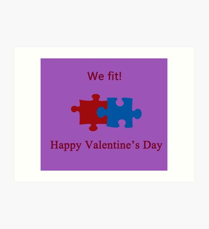 We Fit (Jigsaw Valentines) Art Print
