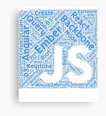Original Blue JavaScript Framework Programming Design Canvas Print