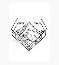Diamond Mountain Photographic Print