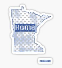 Minnesota State - There's No Place Like Home (Blue Version) Sticker