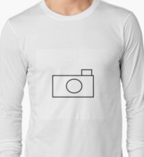 Basic Camera Icon - Plain Black T-Shirt
