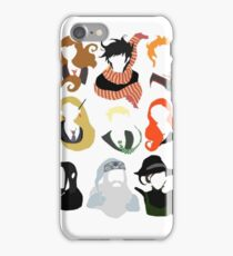 Minimalist HP Characters  iPhone Case/Skin