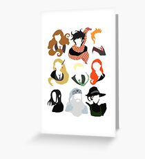 Minimalist Characters  Greeting Card