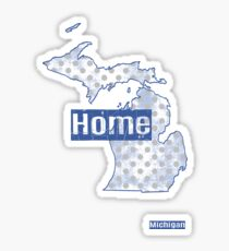 Michigan State - There's No Place Like Home (Blue Version) Sticker