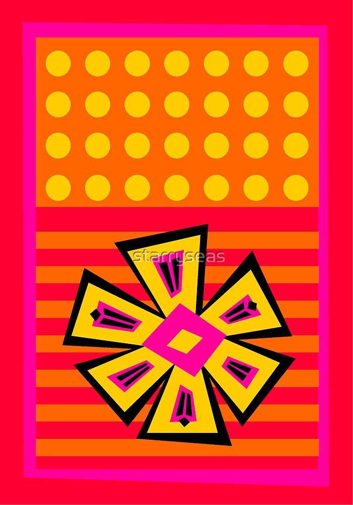 Dot Flowers-n-Stripes by starryseas