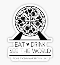"Food & Wine Festival 2017, ""Eat, Drink, See the World"" EPCOT Sticker"