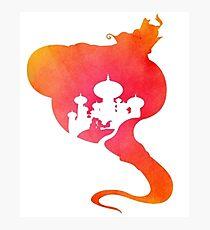 Aladdin's Story Silhouette  Photographic Print
