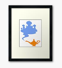 Simplistic Palace and Lamp Framed Print