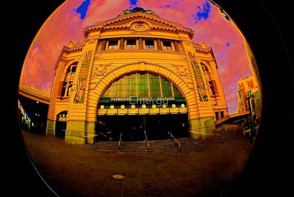 Melbourne Warped - Flinders Street by Emergy