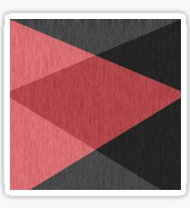 Red , gray , black , abstract  Sticker