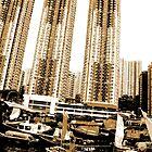 HongKong - Duotone - Modern Living by Hell-Prints