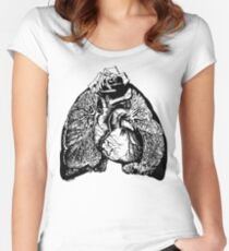 Lung Language - black Women's Fitted Scoop T-Shirt