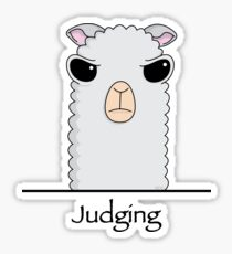 Judging Alpaca Sticker
