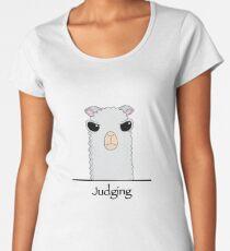 Judging Alpaca Women's Premium T-Shirt