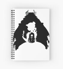 Beauty and the Beast Silhouette Spiral Notebook