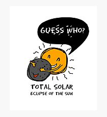 Total Solar Eclipse of the Sun  Guess Who? Kids Photographic Print