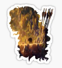 Merida and Her Arrows Silhouette Sticker