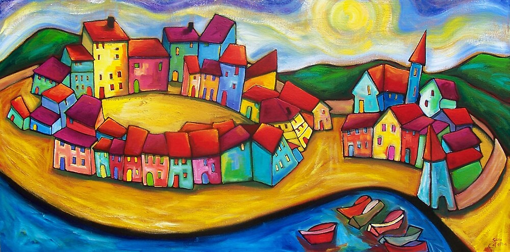 SPRING BLESSINGS IN ELEUSIS.   by ART PRINTS ONLINE         by artist SARA  CATENA