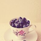Blueberries in a Teacup by Nicola  Pearson