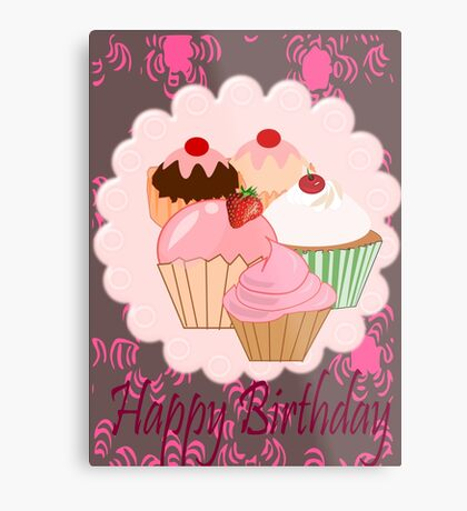 Cup Cakes (4759  Views) Metal Print