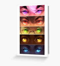 starry eyed: voltron Greeting Card