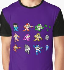 MegaMan Rainbow Graphic T-Shirt