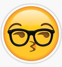 Sexy Glasses Nerd Secret Emoji | funny internet meme Sticker