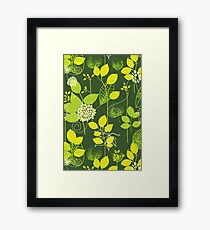 Foliage Lemon & Lime [iPhone / iPod Case and Print] Framed Print