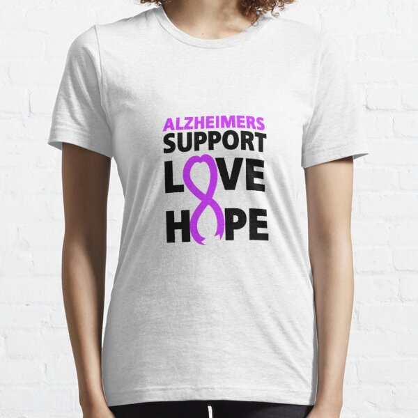 Alzheimers Awareness  Purple Ribbon Support Love Essential T-Shirt