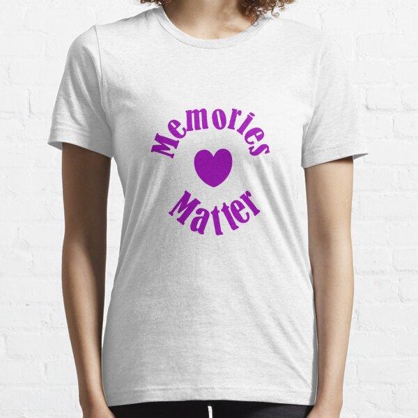 Alzheimers Awareness Purple Ribbon Memories Love Essential T-Shirt