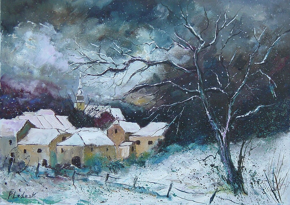 Snow in Villers by calimero