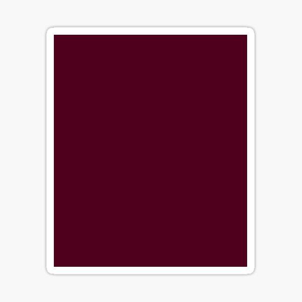 Burgundy solid. Sticker