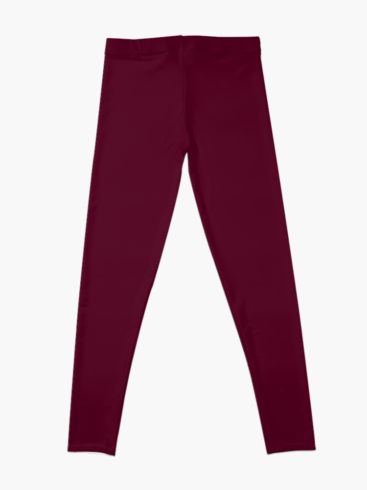 Alternate view of Burgundy solid. Leggings