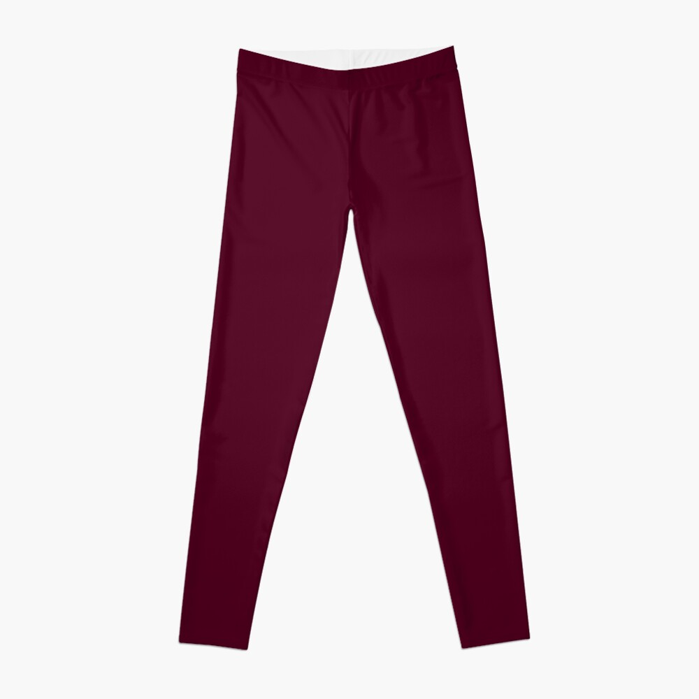 Burgundy solid. Leggings