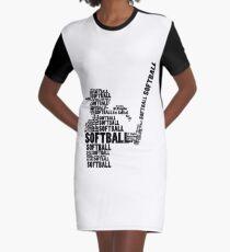 Softball Fan Softball Mom Youth Kid Graphic T-Shirt Dress