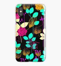 Foliage Orange & Aqua [iPhone / iPod Case and Print] iPhone Case/Skin