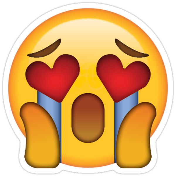 """Crying Heart Eyes OMG Secret Emoji | funny internet meme ..."