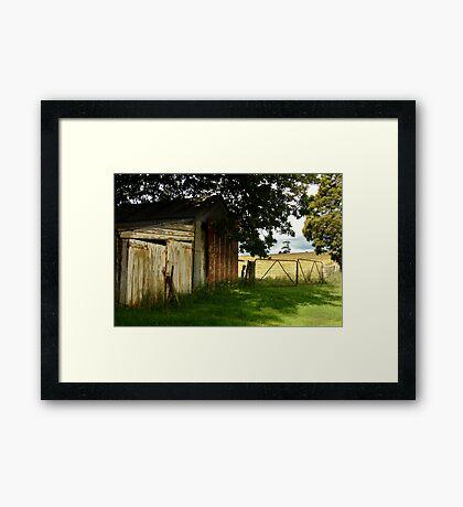 Old Shedding, Clarke's Hill Framed Print