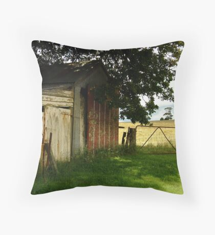 Old Shedding, Clarke's Hill Throw Pillow