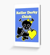 Roller Derby Chick (Yellow) Greeting Card