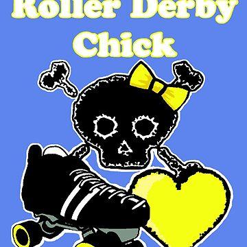 Roller Derby Chick (Yellow) by blakcirclegirl