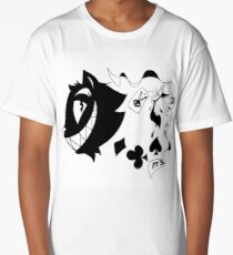 Black and White Alice in Wonderland Theme Long T-Shirt