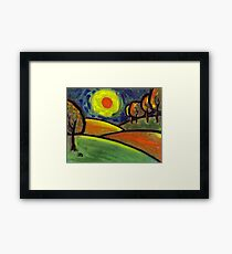 The landscape Framed Print