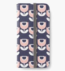 MCM Tulip Blue & Pink iPhone Wallet/Case/Skin
