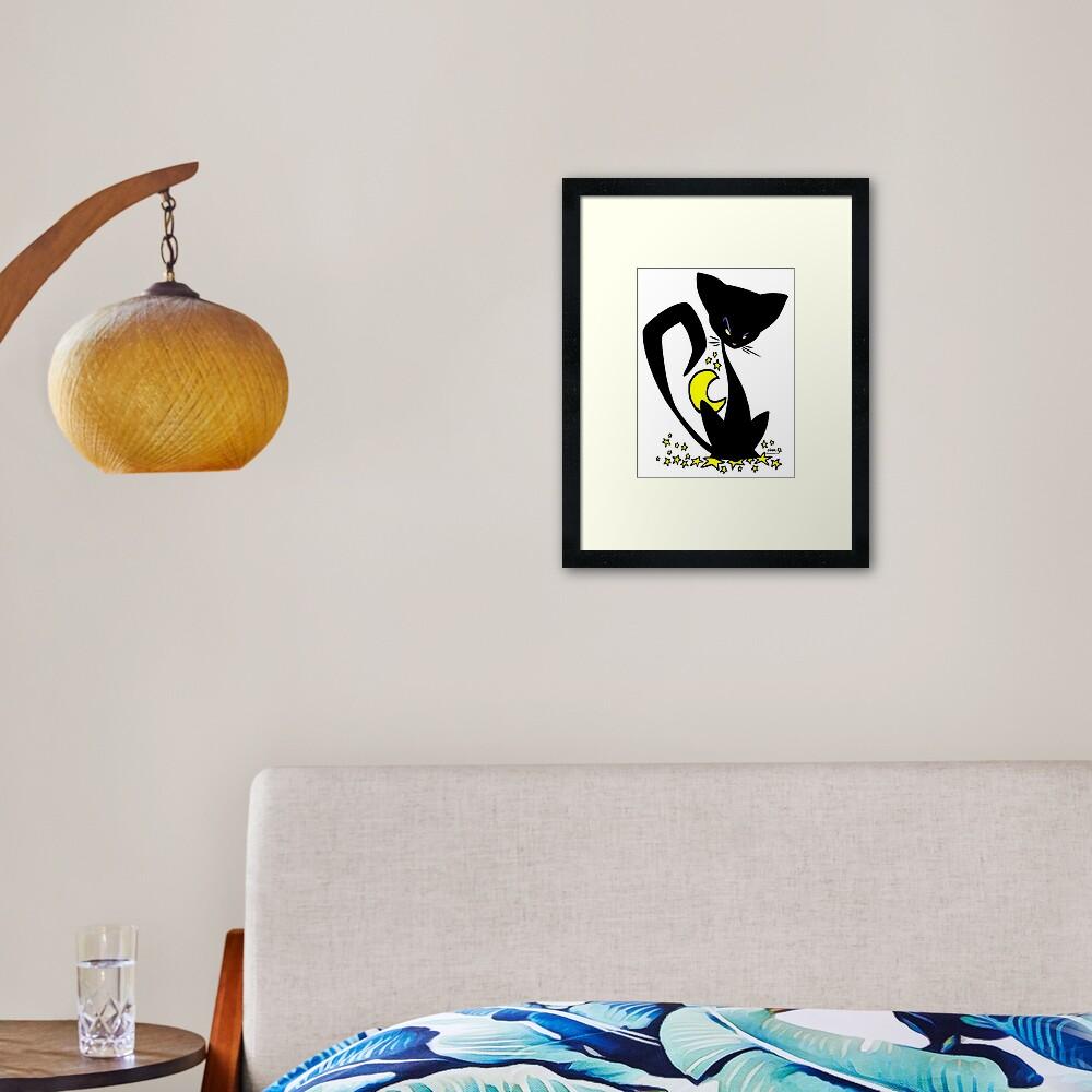 Wicked Little Kitty Framed Art Print