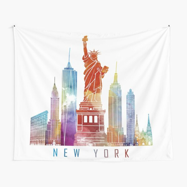 NYC Skyline Tapestry