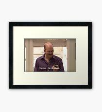 Tobias Funke - Blowhard Framed Print